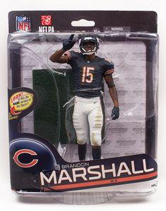 "Mcfarlane NFL 6"" Series 34 Figure Brandon Marshall Chicago Bears"