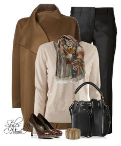 Addison by stylesbymimi on Polyvore featuring polyvore fashion style H&M Jarbo Burberry Sergio Rossi Yves Saint Laurent Tory Burch Faliero Sarti