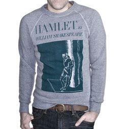 Hamlet book cover fleece | Outofprintclothing.com