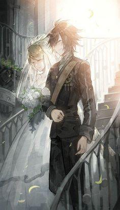 #FinalFantasy 15 #Mariage Noctis Lucis Caelum Lunafreya Nox Fleuret #Dessin #Fanart murakaruki #JeuVidéo #Manga