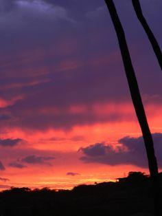 A beautiful sunset at the Manele Bay on Lanai island, Hawaii.