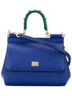 55fbb434344 DOLCE&GABBANA SICILY MINI BAG BLUE HANDLE EMBROIDERY B6003-AI352-80648 # DOLCEGABBANA #ShoulderBag