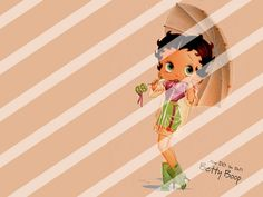 Betty Boop Edible Cake Topper Frosting 1/4 Sheet Image #38