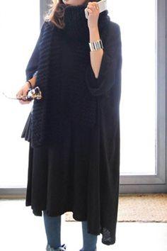oversized draped dress| $9.21  nu goth pastel goth punk goth grunge fachin dress top under10 under20 under30 sammydress