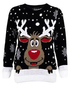 Pull de Noël renne noir