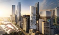 600 Collins Street, Melbourne receives planning approval by the Victorian Government. The design has evolved from the city's distinct urban fabric. New civic spaces are created for the city including a public plaza, terraces and new link for pedestrians to access Southern Cross railway station and the tram network. #ZahaHadid #architecture #melbourne #australia