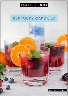 Kentucky Derby Oaks Lily with Grey Goose vodka, cranberry juice and berries.