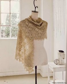 Crochet Knitting Handicraft: Stole with motifs  LOVE this site for some of the most beautiful things to crochet ~!~