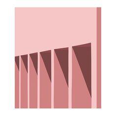 Shade I // #digitalart #light #blush #pastel #architecture #sketch #dawn #illustration #art #shades #gradient #pink #colors #house