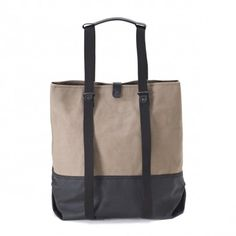 simple shopper (organic caribou) Shop Till You Drop, Leather Handle, Photo Book, Bicycle, Organic, Backpacks, Simple, Farmer, How To Wear