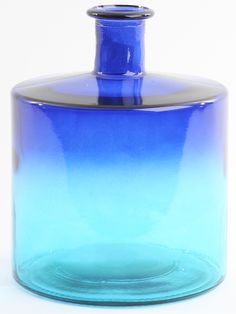 Glass vase in blue - tyrcoise color
