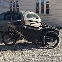 Electric assisted recumbent trike, First time on it's own wheels #garageproject #carbonbikes #diy #recumbenttrike #recumbentbike #carbonfiber #prototype #electricvehicle #reversetrike #kickstarter #velomobile
