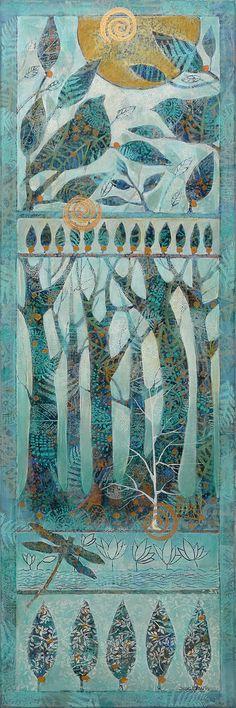 A new 10x30 acrylic on canvas. By Sue Davis of Fort Wayne, Indiana. Www.vachonarts.com