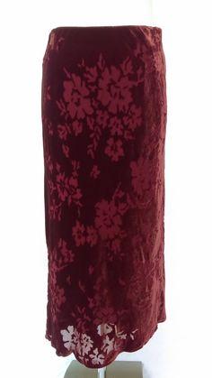 Laura Ashley Red Velvet Skirt