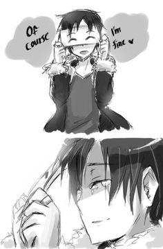 Izaya Orihara - The anime is Durarara something right? the art is really drawn beautifully though. Durarara, Izaya Orihara, Shizaya, Sad Anime Girl, Anime Love, Anime Guys, Manga Anime, Anime Art, Dark Anime