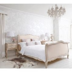 Delphine French Upholstered Bed by the French Bedroom Company will romance your bedroom.