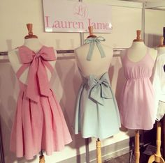 Lauren James summer 2014 dresses in seersucker! These are just to pretty and delicate, especially with the bow!