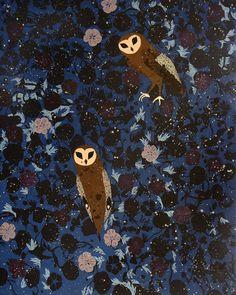 Owl Art by Kirra Jamison