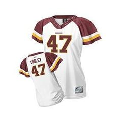 FREE SHIPPING!!! Washington Redskins 47 Chris Cooley White Womens Jersey