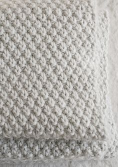 Ravelry: Double Seed Stitch Blanket pattern by Purl Soho