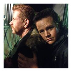 Saying you're sorry can feel so good... @Cudlitz #Brothers #TheWalkingDead