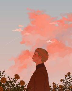 """Thank god at least this planet has namjoon 💕 Pretty Art, Cute Art, Aesthetic Art, Aesthetic Anime, Fanart Bts, Illustration Art, Illustrations, Bts Drawings, Bts Wallpaper"