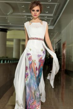 Buy 2014 Athens Style Straps Floor Length Chiff Dresses 30905 Color Just As Picture Show On line
