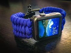 Apple Watch Paracord Band - Trilobite Triple Weave, Stainless Steel Adjustable Clasp, 550lb MILSPEC cord