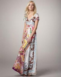 Johnny Was Collection Printed Georgette Maxi Dress, Women's