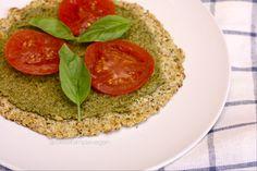 Vegan Cauliflower Pizza Crust (GF, Oil Free) VEGAN (no eggs, no cheese in this one)