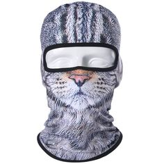 cc081fa81e6 3D Cat Dog Animal Bicycle Motorcycle Hats Balaclava Tiger Party Halloween  Snowboard Helmet Winter Warmer Pet Full Face Mask