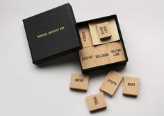 Minimal Nativity Set made of plain wooden blocks by Emilie Voirin