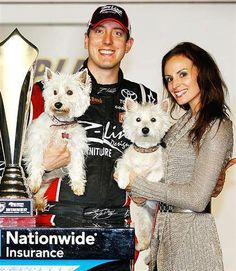 NASCAR Westies .... Hey, Kyle must not be such a bad boy after all.  He has Westies.