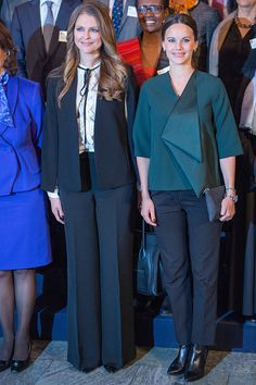 Princess Madeleine of Sweden and Princess Sofia of Sweden attend the Global Child Forum at the Hall of State in the Royal Palace on November 26 2015...