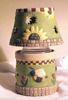 Debbie MUMM Bumble Bee and Sunflowers Candleholder