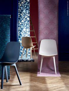 Nya ODGER stol finns i blått, brunt och beige.