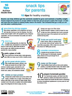 Snacks can help children get the nutrients needed to grow. Here's 10 tips for healthy snacking. #Printable