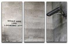 Banksy CCTV Split-Panel Canvas Print – Canvas Art Rocks