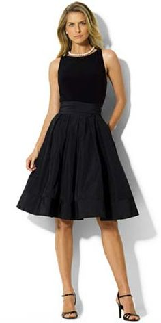 Mother of the Bride Groom Dress Ideas | Ralph Lauren Black Dress