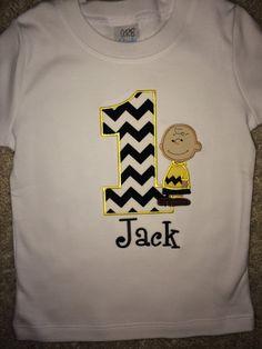 Charlie Brown Chevron Birthday Shirt on Etsy, $23.00