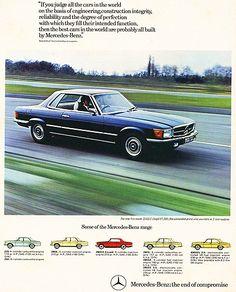 Mercedes 1972 350SLC ad a 400