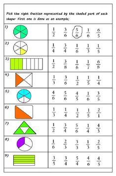 Free Printable Fractions Worksheets For 2019   Educative