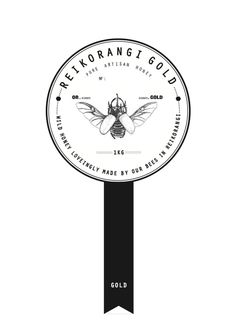 Reikorangi Gold - Honey Label Design by Pearl Delaney-Girdlestone, via Behance