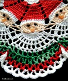 Image detail for -Santa Crochet Doily Centrinho Papai Noel 4 pinkrosecrochet.Santa Crochet Doily- no pattern, inspiration onlyCzeka na Ciebie 18 nowych Pinów - Poczta Filet Crochet, Crochet Diy, Crochet Doily Patterns, Thread Crochet, Love Crochet, Crochet Designs, Crochet Crafts, Yarn Crafts, Crochet Projects