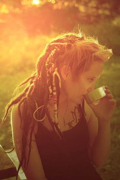 Awesome lighting, nice dreads, cool tat.