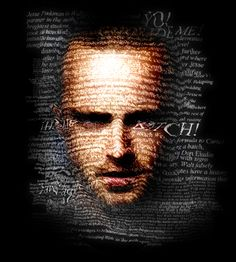Typography Portrait by Alexander Ponce, via Behance