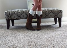 Womens Knit Boot Cuffs Women's Ivory Button Boot by uptowngirlco