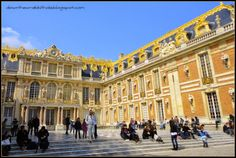 """Visit the gold-foiled palace of Versailles in Paris.  Find out more at """"Down the Wrabbit Hole - The Travel Bucket List"""". Click the image for the blog post."""