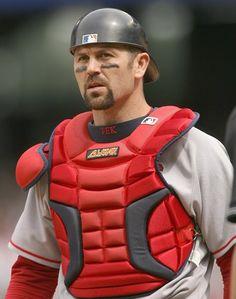 Former Yellow Jacket , catcher Jason Varitek of the Boston Red Sox, future National Baseball Hall of Famer