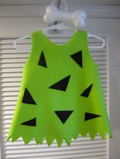 Pebbles costume set, dress bone hair clip bow, Flintstones Flinstones, Halloween handmade baby toddler girls twins sibling